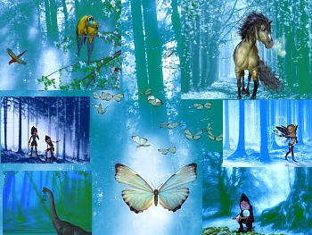 Download Blue Forest Wallpapers
