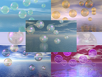 Download Bubble Scapes Wallpapers