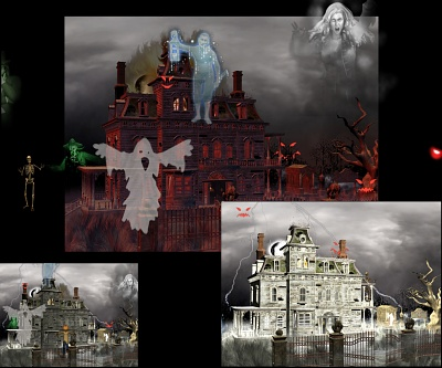Download Haunted House wide wallpaper