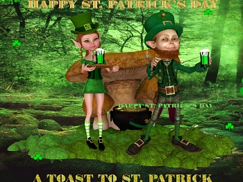 Download A Toast to St. Patrick wallpaper
