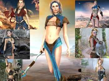 Download Warrior Girls Wallpaper